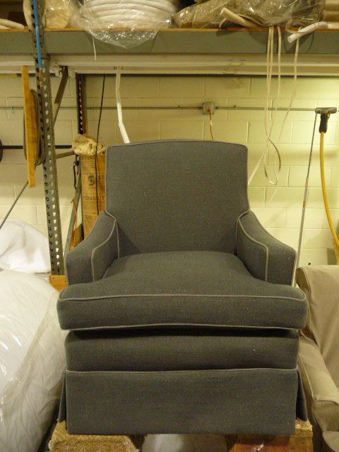 Slipcover Chairs lounge chair, contrast piping | Upholstery Ideas | Pinterest