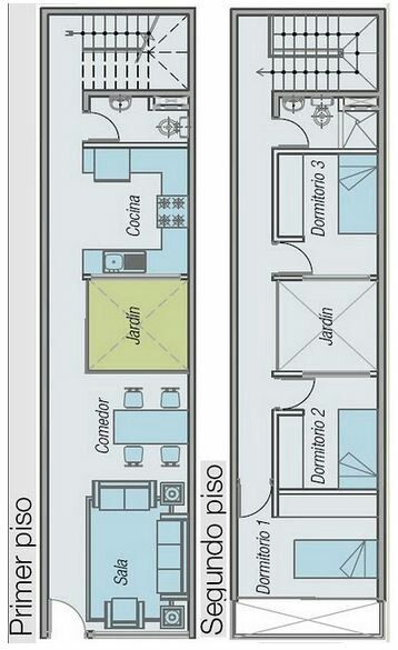 Casa pequena de 2 quartos e jardim interior                                                                                                                                                                                 Más