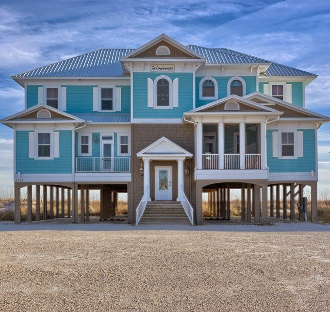 917 best home exterior 39 s floorplans images on pinterest for Beach house plans gulf coast