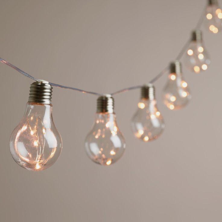 Edison Firefly 10 Bulb Battery Operated String Lights, World Market, NEW!