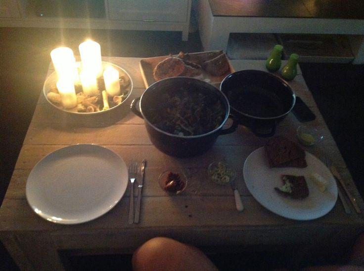 Romantisch mosselen eten I love it!!