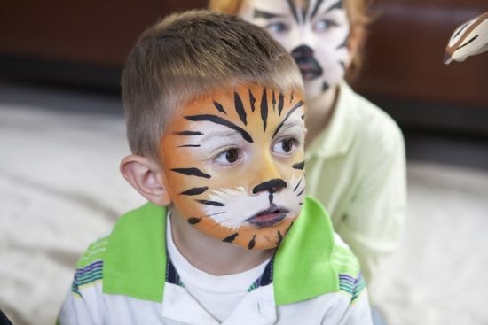 Jungle party activity..FACE painting!! Adorable!