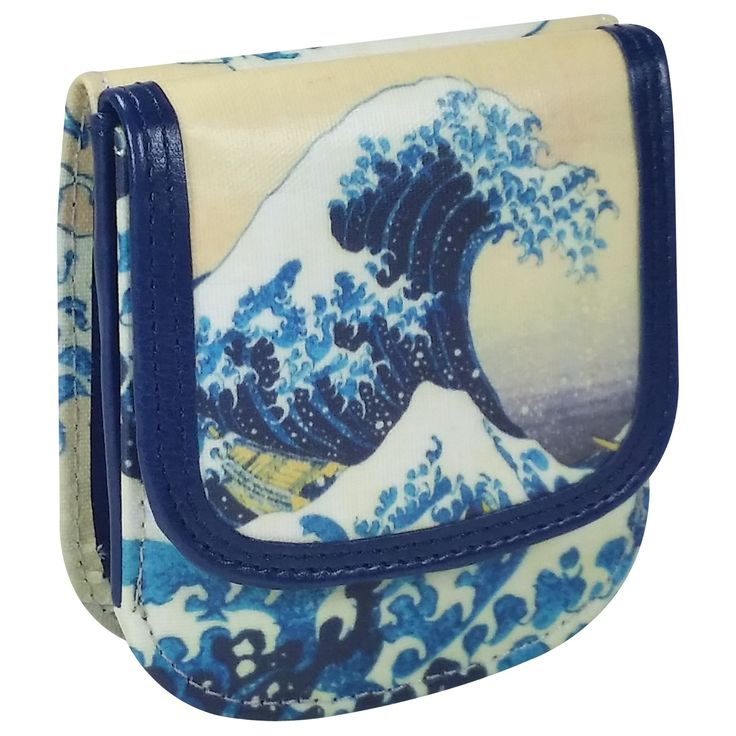 "Hokusai ""Wave"" Taxi Wallet - Compact Vegan coin wallet"