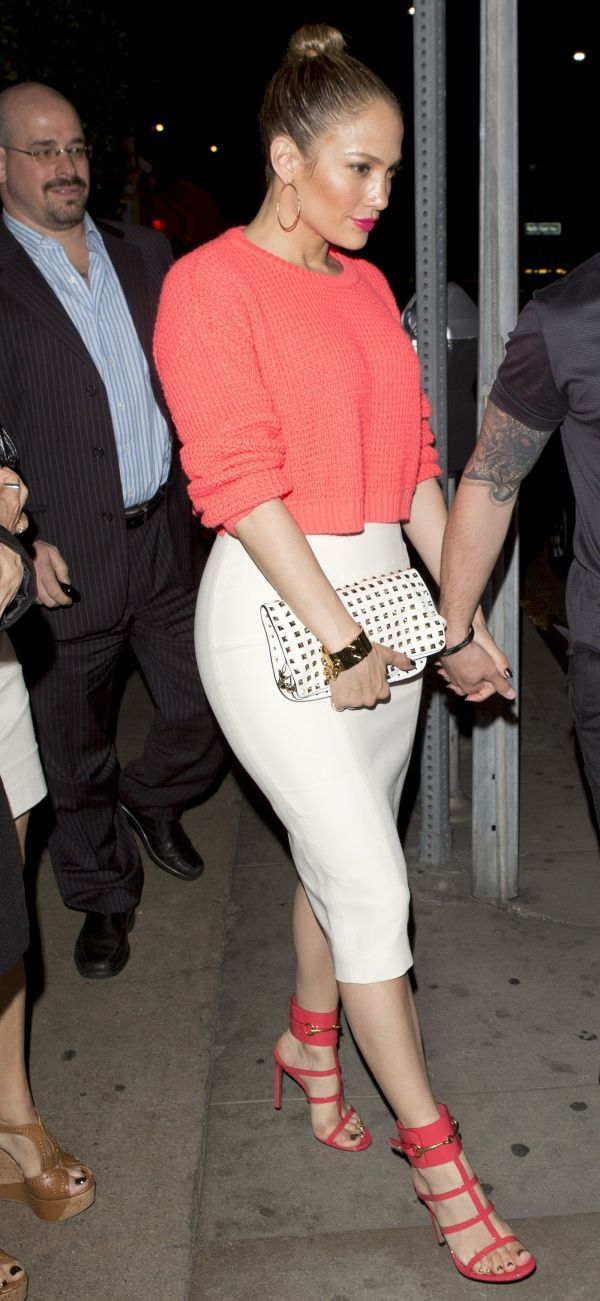 Get JLo's look with our 'La-La' skirt in Ivory: http://www.boomboomthelabel.com/products/la-la-skirt