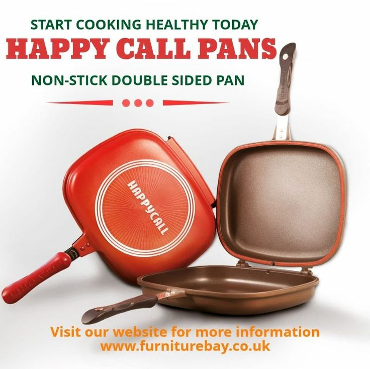 HAPPY CALL DOUBLE SIDED FRYING PAN GRILL ALUMINIUM CERAMIC COATED - NON STICK