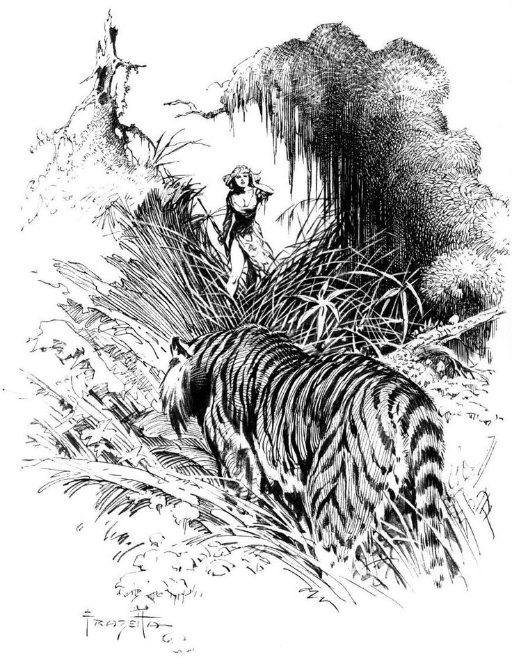 ArK: Фрэнк Фразетта — иллюстрации к произведениям Э.Р. Берроуза