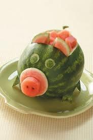 pig watermelon
