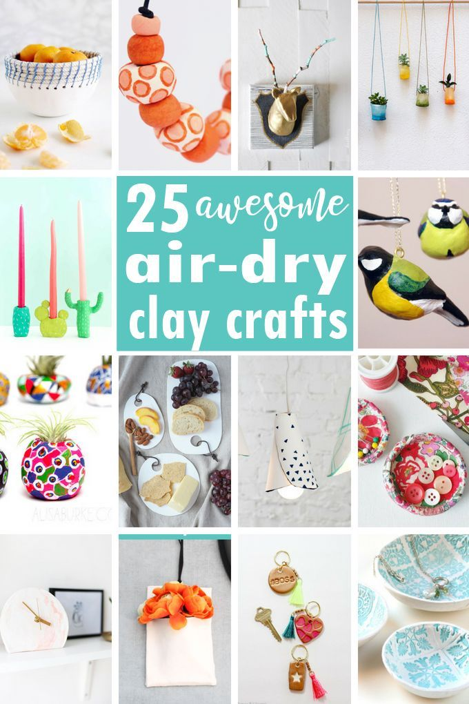 Clay Craft Ideas A Roundup Of Air Dry Clay Projects For Adults Clay Crafts Air Dry Clay Crafts Arts And Crafts For Teens