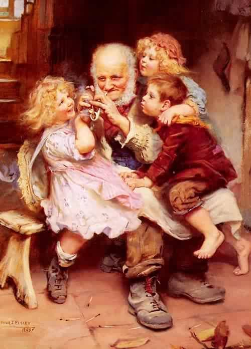 Grandfathers Favorites | Arthur John Elsley | oil painting