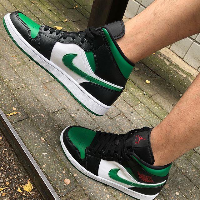 air jordan 1 mid green toe