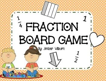 Super cute and fun fraction board game where students have to identify the fraction while racing to the finish line!