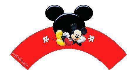 Mickey: Free Printable Cupcake Wrappers.Gratis.