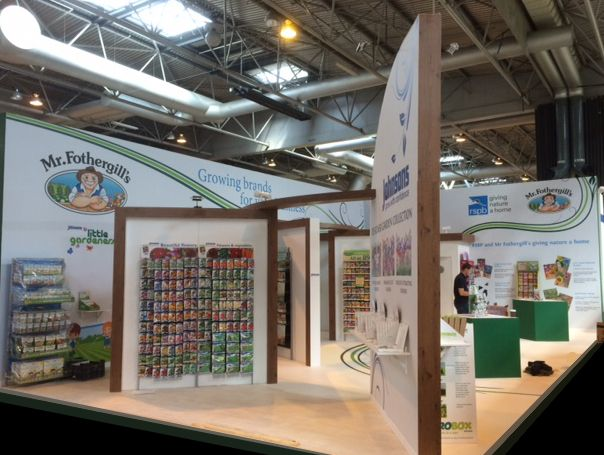 Exhibition Stand: Stand designed, built and installed by DD Exhibitions for  Mr Fothergill's Seeds