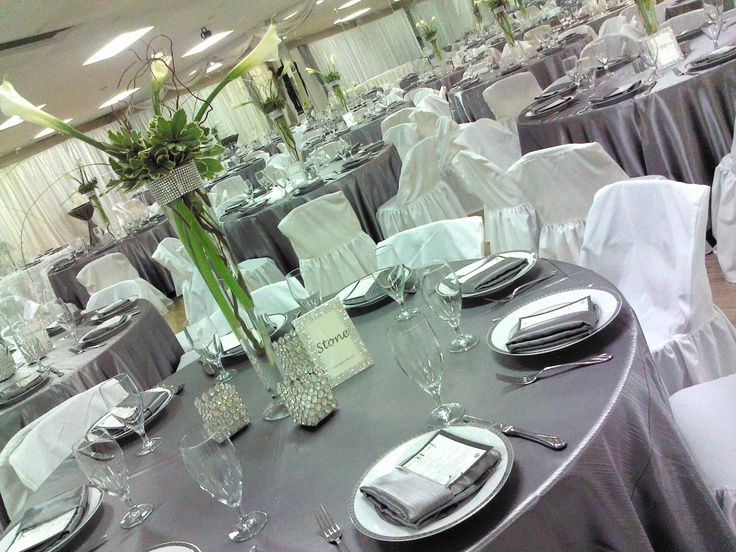 Bling Party Ideas Silver 25th Wedding Anniversary