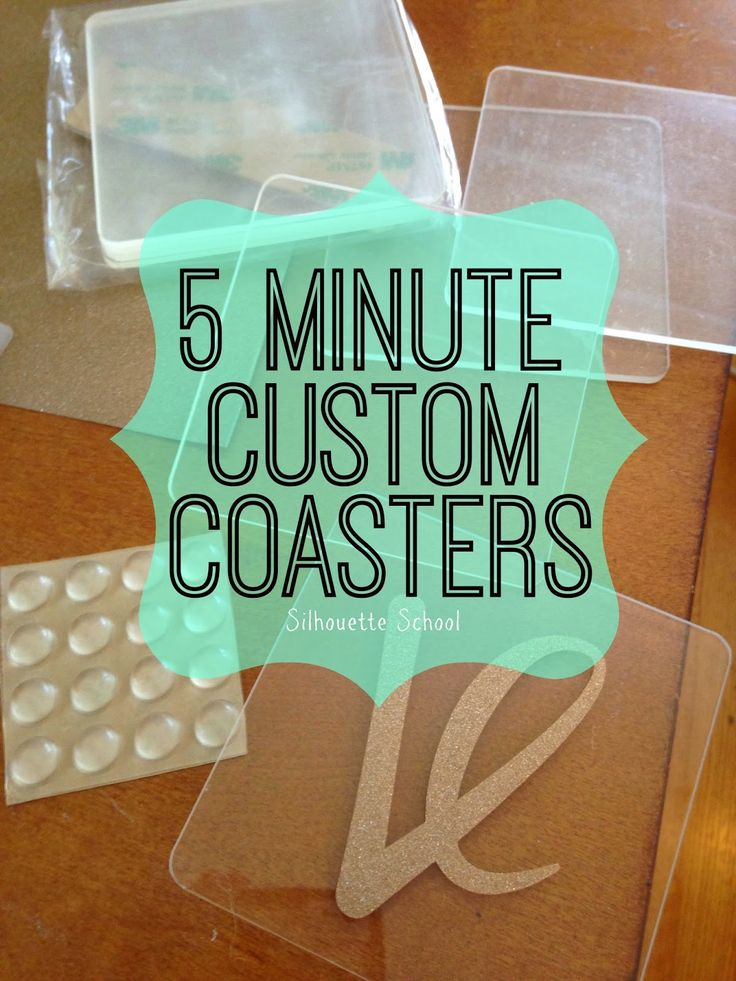 5 Minute Custom Coasters: Silhouette Tutorial ~ Silhouette School
