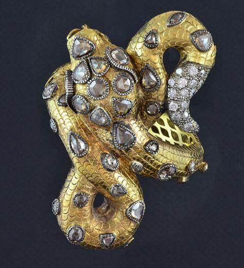 Anello con serpente Attilio Codognato, Italy