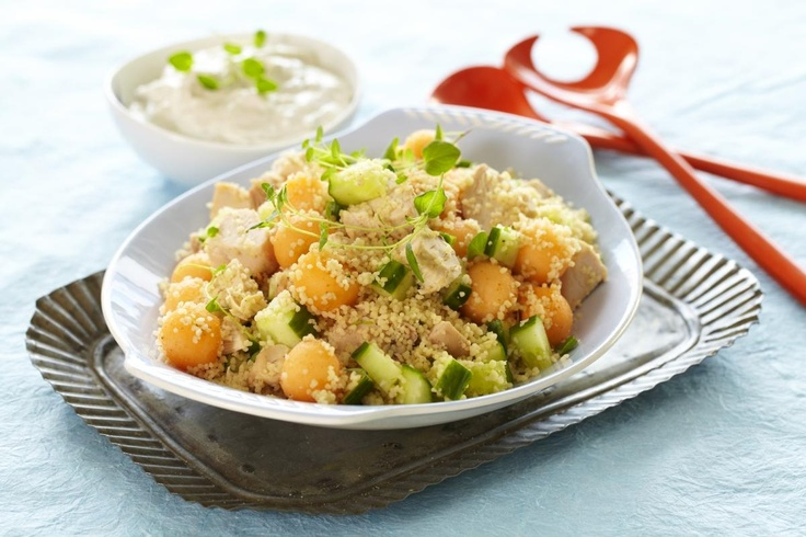 Couscous-salat med kylling