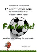 Free Printable Soccer Certificates, Soccer Awards, Soccer Certificate Templates, you can use your own wording to fit anything you need then print