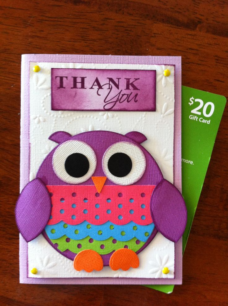 Ezypress Punch Owl Thank You Card using all Kaszazz Products... Owl inspired by a fellow Kaszazz consultant