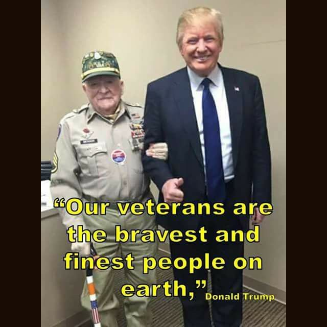 A President who finally works with our veterans!!