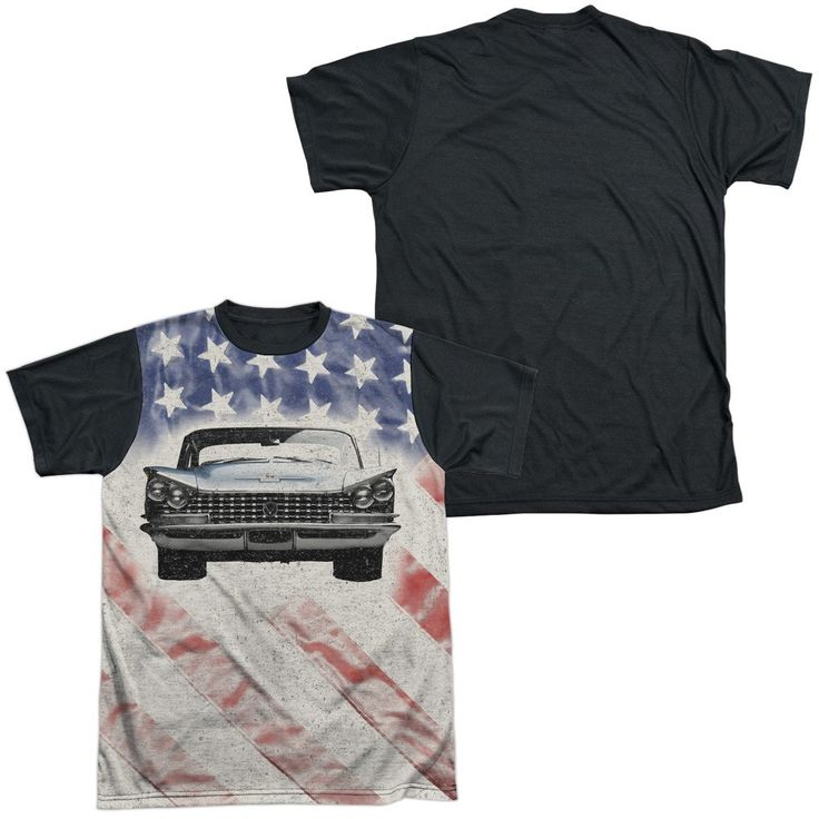 Buick - 1959 Electra Flag Adult Black Back 100% Poly T-Shirt