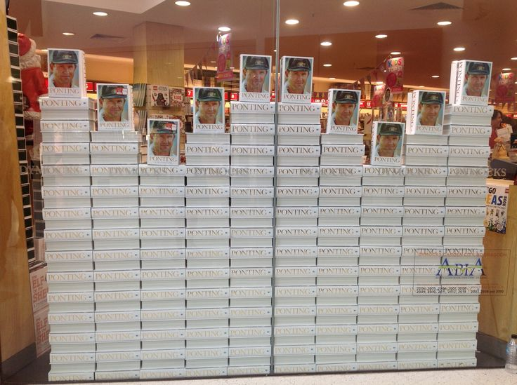 The Great Wall of Ponting! It's visble from space! ( well, not really- but look at it!) Thanks to Dymocks Garden City in Perth for the mammoth effort!