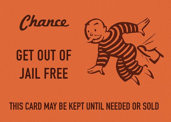 Chance Card Vintage Monopoly Get Out Of Jail Free Art Print By Design Turnpike In 2021 Card Templates Free Card Template Free Canvas