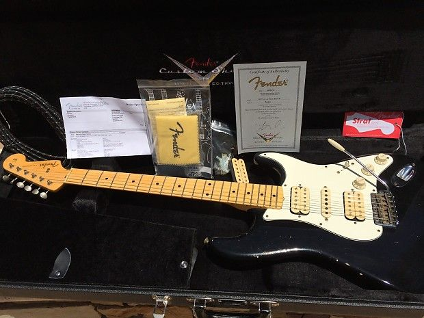 Fender 2012 Custom Shop Ltd Wildwood 10 1957 Strat Relic Black HSH/Dave Murray Iron Maiden Style