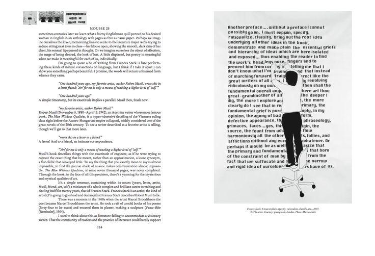 Mousse Magazine 56 ~ 2006–2016: A SMALL ANTHOLOGY #moussemagazine #contemporaryart #art #magazine #francesstark #design