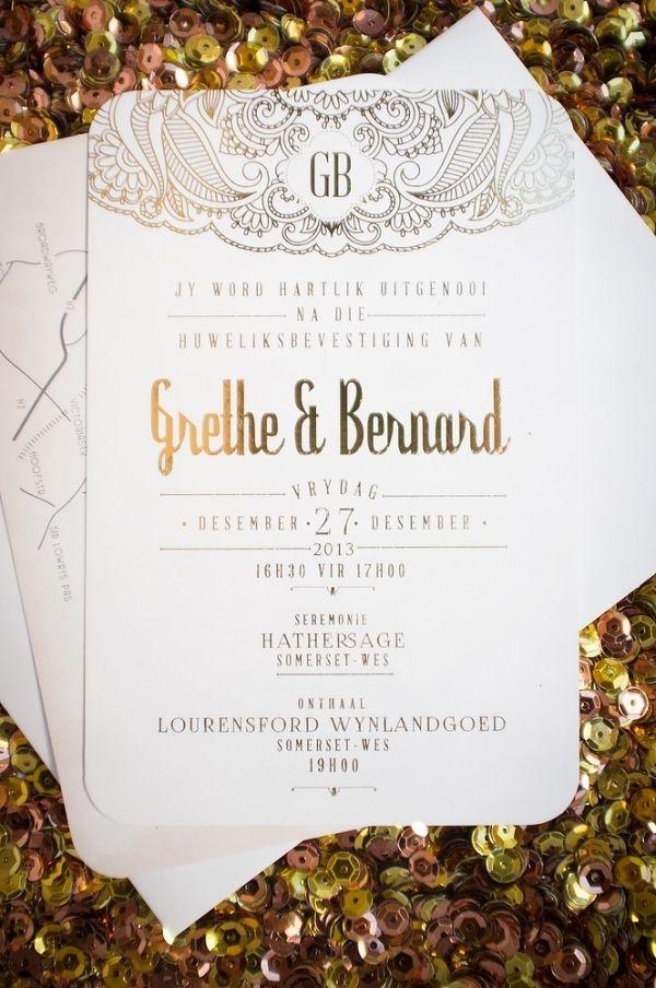 Glamorous Gold Vineyard Wedding in South Africa