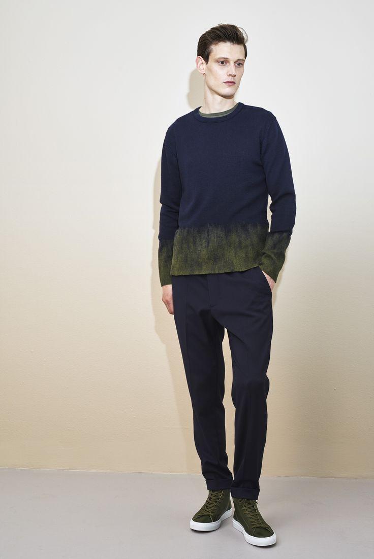 Filippa K Man autumn winter 2015, cotton cashmere knit www.filippa-k.com/en