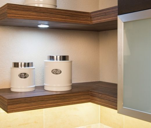 Floating Corner Shelves With Recessed Lighting Living Family Rooms Pinterest Shelf And