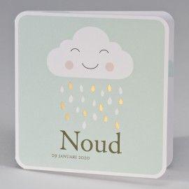 Goedlachse wolk met gouden regendruppels - mint - 507.026