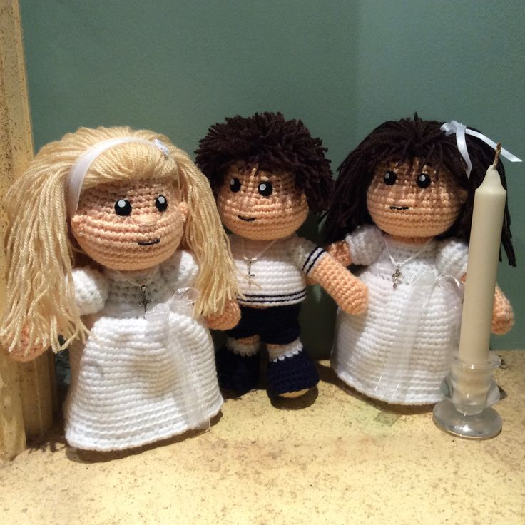 Muñecos de comunión amigurumi