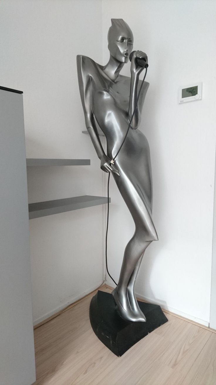 Lindsey B mannequin interior design floor lamp. The singer. Store display