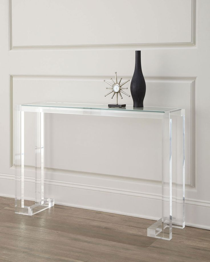 The Perfect Lucite Console Horchow