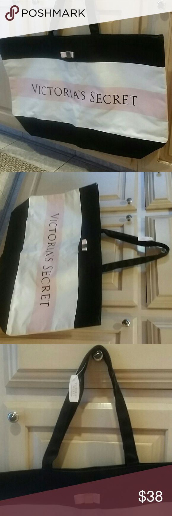 Spotted while shopping on Poshmark: Victoria's Secret travel beach weekender tote! #poshmark #fashion #shopping #style #Victoria's Secret #Handbags