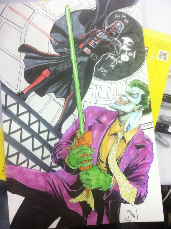 Darth Vader vs The Joker   Star Wars artwork and fan stuff ...