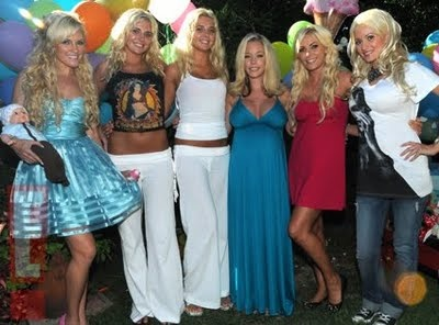 Former playmate Kendra Wilkinson's baby shower with the girls
