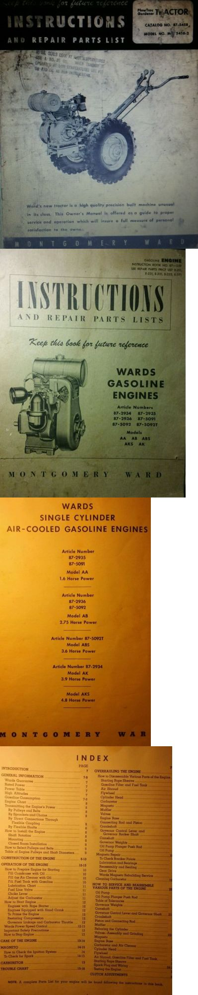 Manuals and Guides 42229: Montgomery Ward Mid-5458 Garden Tractor Owner, Engine, Service, Parts Manual 36P -> BUY IT NOW ONLY: $42.99 on eBay!