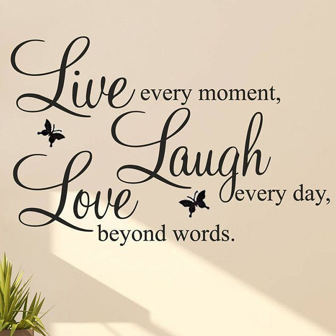DIY Live Laugh Love Quote Vinyl Decal Removable Art Wall Stickers Home Decor Hot #Unbranded #LiveLaughLove