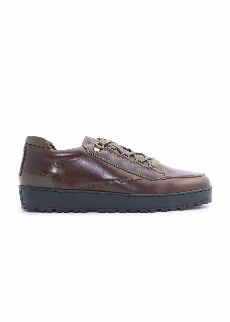 Want Les Essentiels de la Vie - Menswear - FW16 // Brown Hopkins Lugged sneakers in leather