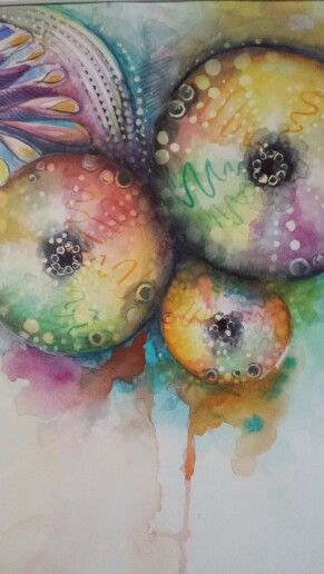 Sea Urchins 2 watercolour