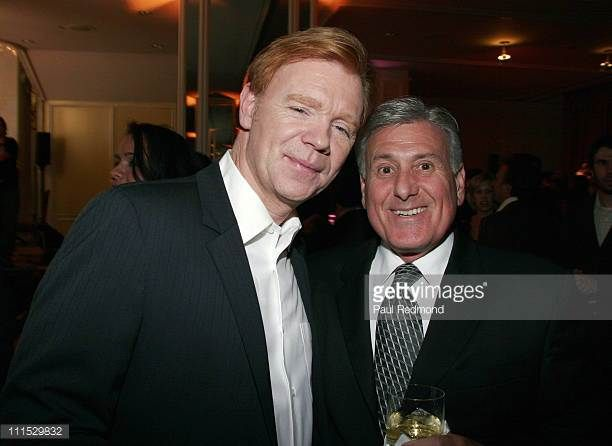 David Caruso and Neil Shaw during The Museum of Television Radio Honors Leslie Moonves and Jerry Bruckheimer Inside at Regent Beverly Wilshire Hotel...