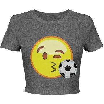 Emoji Soccer Crop Top