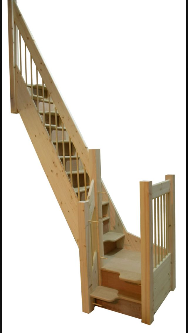 17 best images about home stairs on pinterest built in storage ladder and staircases - Attic stairs for small spaces style ...