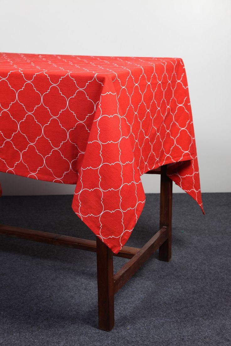Moroccan Trellis tablecloth by Suraaj Linens