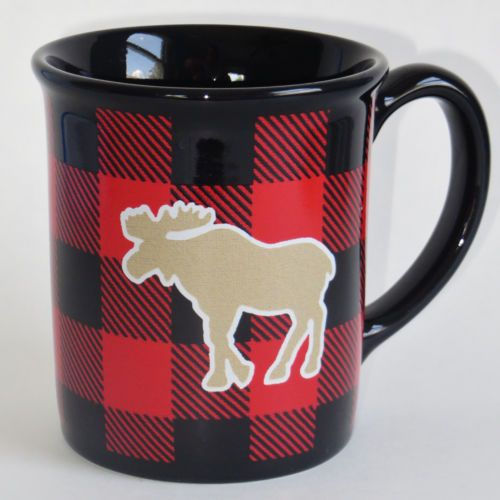 Woolrich Moose Buffalo Plaid Mug Red Black Bear The Hadley