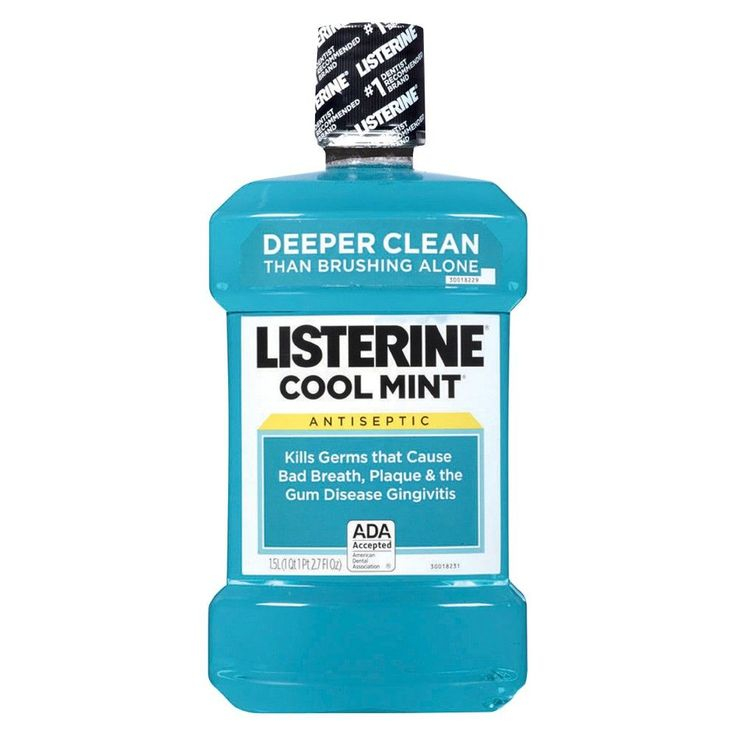 Listerine Cool Mint Antiseptic Mouthwash Oral Care And Breath Freshener - 1.5 L, Blue