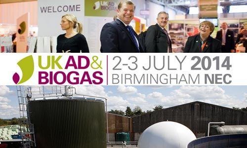 #UK #AD & #Biogas #2014 - #Anaerobic_Digestion #Trade Show - 2-3 July 2014, Hall 3, NEC, #Birmingham